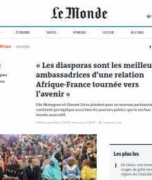 Tribune Le Monde Afrique, Les diasporas sont les meilleures ambassadrices d'une relation Afrique-France tournée vers l'avenir