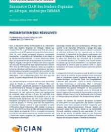 Baromètre Africaleads 2020, Baromètre CIAN des leaders d'opinion en Afrique